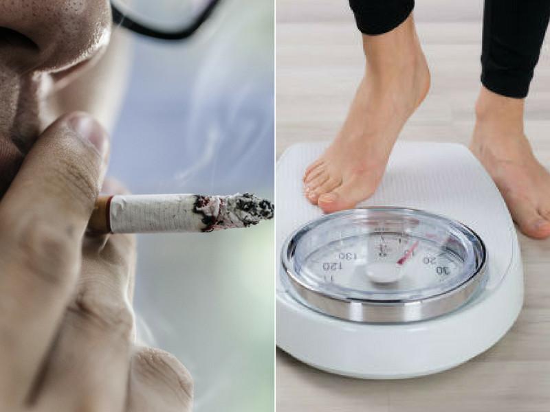 kajenje in izguba teže