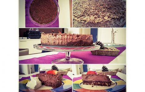Čokoladna mousse tortica z oreščki 1