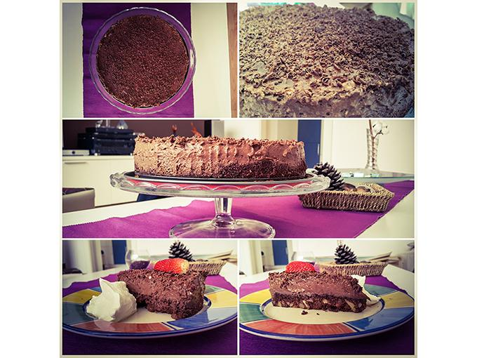 Čokoladna torta z oreščki 6