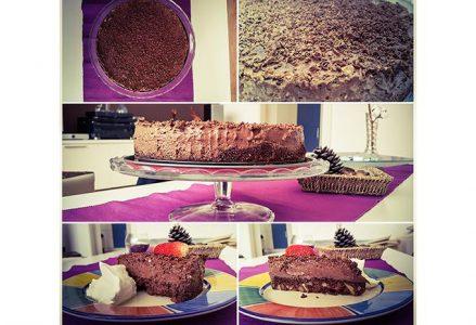 Čokoladna mousse tortica z oreščki