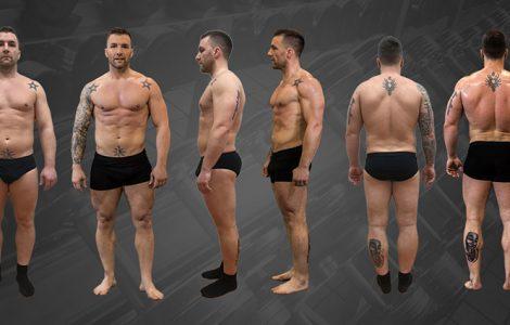 Mišo preobrazba 8 tednov(-13KG maščobe +3,5KG puste mase) 2