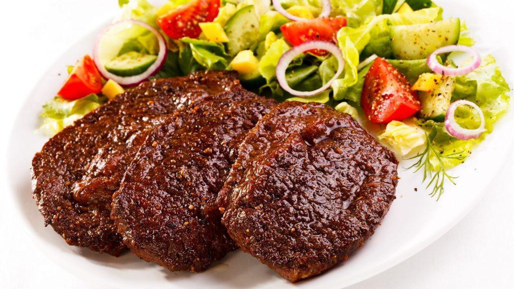 meso in zelenjava